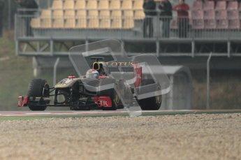 © Octane Photographic 2011. Formula 1 testing Sunday 20th February 2011 Circuit de Catalunya. Renault R31 - Vitaly Petrov. Digital ref : 0010CB1D1777