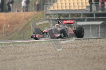 © Octane Photographic 2011. Formula 1 testing Sunday 20th February 2011 Circuit de Catalunya. McLaren MP4/26 - Lewis Hamilton. Digital ref : 0010CB1D1788