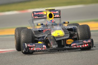 © Octane Photographic 2011. Formula 1 testing Sunday 20th February 2011 Circuit de Catalunya. Red Bull RB7 - Mark Webber. Digital ref : 0010CB1D1948