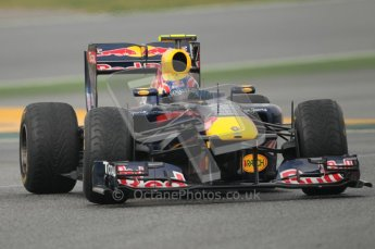 © Octane Photographic 2011. Formula 1 testing Sunday 20th February 2011 Circuit de Catalunya. Red Bull RB7 - Mark Webber. Digital ref : 0010CB1D1970