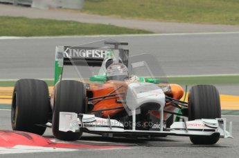 © Octane Photographic 2011. Formula 1 testing Sunday 20th February 2011 Circuit de Catalunya. Force India VJM04 - Adrian Sutil. Digital ref : 0010CB1D2108