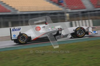 © Octane Photographic 2011. Formula 1 testing Sunday 20th February 2011 Circuit de Catalunya. Sauber C30 - Sergio Perez. Digital ref : 0010CB5D0233