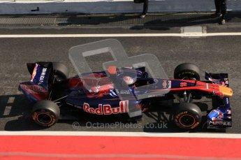 © Octane Photographic 2011. Formula 1 testing Sunday 20th February 2011 Circuit de Catalunya. Toro Rosso STR6 - Sebastien Buemi. Digital ref : 0010CB5D0330