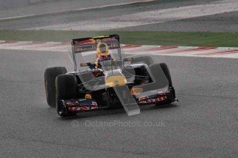 © Octane Photographic 2011. Formula 1 testing Sunday 20th February 2011 Circuit de Catalunya. Red Bull RB7 - Mark Webber. Digital ref : 0010CB1D1027