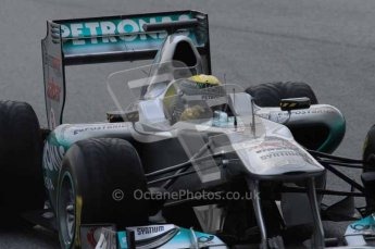 © Octane Photographic 2011. Formula 1 testing Sunday 20th February 2011 Circuit de Catalunya. Mercedes MGP W02 - Nico Rosberg. Digital ref : 0010LW7D2477