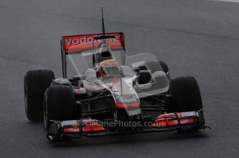 © Octane Photographic 2011. Formula 1 testing Sunday 20th February 2011 Circuit de Catalunya. McLaren MP4/26 - Lewis Hamilton. Digital ref : 0010LW7D2695