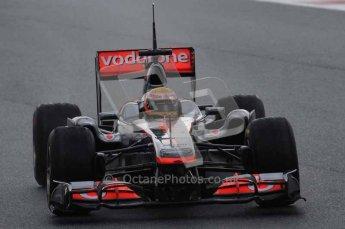 © Octane Photographic 2011. Formula 1 testing Sunday 20th February 2011 Circuit de Catalunya. McLaren MP4/26 - Lewis Hamilton. Digital ref : 0010LW7D2718
