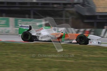 © Octane Photographic 2011. Formula 1 testing Sunday 20th February 2011 Circuit de Catalunya. Force India VJM04 - Adrian Sutil. Digital ref : 0010LW7D2784