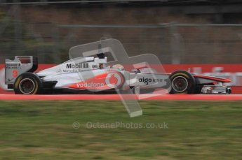 © Octane Photographic 2011. Formula 1 testing Sunday 20th February 2011 Circuit de Catalunya. McLaren MP4/26 - Lewis Hamilton. Digital ref : 0010LW7D2815