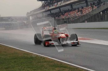 © Octane Photographic 2011. Formula 1 testing Sunday 20th February 2011 Circuit de Catalunya. Ferrari 150° Italia - Felipe Massa. Digital ref : 0010LW7D3322