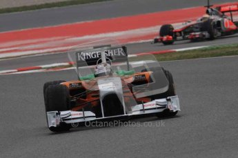 © Octane Photographic 2011. Formula 1 testing Sunday 20th February 2011 Circuit de Catalunya. Force India VJM04 - Adrian Sutil. Digital ref : 0010LW7D3561