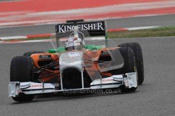 © Octane Photographic 2011. Formula 1 testing Sunday 20th February 2011 Circuit de Catalunya. Force India VJM04 - Adrian Sutil. Digital ref : 0010LW7D3584