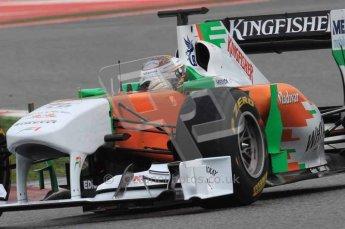 © Octane Photographic 2011. Formula 1 testing Sunday 20th February 2011 Circuit de Catalunya. Force India VJM04 - Adrian Sutil. Digital ref : 0010LW7D3644