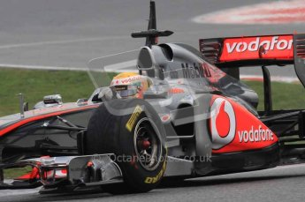 © Octane Photographic 2011. Formula 1 testing Sunday 20th February 2011 Circuit de Catalunya. McLaren MP4/26 - Lewis Hamilton. Digital ref : 0010LW7D3653