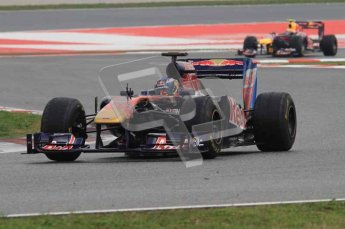 © Octane Photographic 2011. Formula 1 testing Sunday 20th February 2011 Circuit de Catalunya. Toro Rosso STR6 - Daniel Ricciardo. Digital ref : 0010LW7D3657