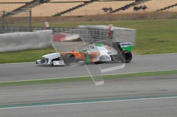 © Octane Photographic 2011. Formula 1 testing Sunday 20th February 2011 Circuit de Catalunya. Force India VJM04 - Adrian Sutil. Digital ref : 0010LW7D4092