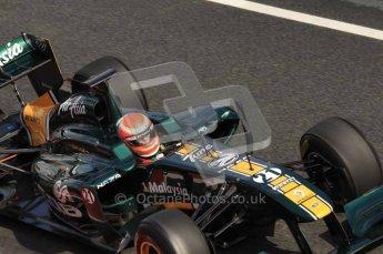 © Octane Photographic 2011. Formula 1 testing Sunday 20th February 2011 Circuit de Catalunya. Lotus T124 - Jarno Trulli. Digital ref : 0010LW7D4697