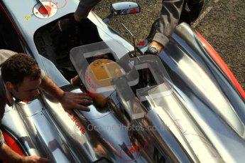 © Octane Photographic 2011. Formula 1 testing Sunday 20th February 2011 Circuit de Catalunya. McLaren MP4/26 - Lewis Hamilton. Digital ref : 0010LW7D4860