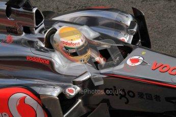 © Octane Photographic 2011. Formula 1 testing Sunday 20th February 2011 Circuit de Catalunya. McLaren MP4/26 - Lewis Hamilton. Digital ref : 0010LW7D5119