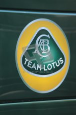 World © Octane Photographic 2010. © Octane Photographic 2011. Formula 1 testing Friday 18th February 2011 Circuit de Catalunya. Lotus team logo. Digital ref : 0024CB1D0258