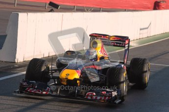 World © Octane Photographic 2010. © Octane Photographic 2011. Formula 1 testing Friday 18th February 2011 Circuit de Catalunya.  Red Bull RB7 - Sebastian Vettel. Digital ref : 0024CB1D9696