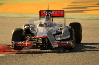 World © Octane Photographic 2010. © Octane Photographic 2011. Formula 1 testing Friday 18th February 2011 Circuit de Catalunya. McLaren MP4/26 - Jenson Button. Digital ref : 0024CB7D0061