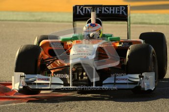 World © Octane Photographic 2010. © Octane Photographic 2011. Formula 1 testing Friday 18th February 2011 Circuit de Catalunya. Force India VJM04 - Paul di Resta. Digital ref : 0024CB7D0101