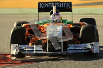 World © Octane Photographic 2010. © Octane Photographic 2011. Formula 1 testing Friday 18th February 2011 Circuit de Catalunya. Force India VJM04 - Paul di Resta. Digital ref : 0024CB7D0121