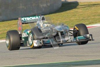 World © Octane Photographic 2010. © Octane Photographic 2011. Formula 1 testing Saturday 19th February 2011 Circuit de Catalunya. Mercedes MGP W02 - Nico Rosberg. Digital ref : 0025CB1D0104