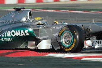 World © Octane Photographic 2010. © Octane Photographic 2011. Formula 1 testing Saturday 19th February 2011 Circuit de Catalunya. Mercedes MGP W02 - Nico Rosberg. Digital ref : 0025CB1D0138