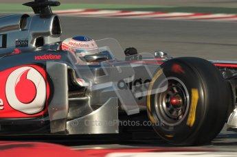 World © Octane Photographic 2010. © Octane Photographic 2011. Formula 1 testing Saturday 19th February 2011 Circuit de Catalunya. McLaren MP4/26 - Jenson Button. Digital ref : 0025CB1D0193