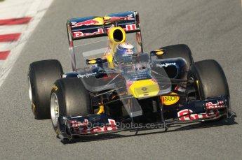 World © Octane Photographic 2010. © Octane Photographic 2011. Formula 1 testing Saturday 19th February 2011 Circuit de Catalunya. Red Bull RB7 - Sebastian Vettel. Digital ref : 0025CB1D0336