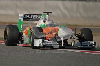 World © Octane Photographic 2010. © Octane Photographic 2011. Formula 1 testing Saturday 19th February 2011 Circuit de Catalunya. Force India VJM04 - Paul di Resta. Digital ref : 0025CB1D0713