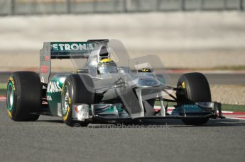 World © Octane Photographic 2010. © Octane Photographic 2011. Formula 1 testing Saturday 19th February 2011 Circuit de Catalunya. Mercedes MGP W02 - Nico Rosberg. Digital ref : 0025CB1D0727