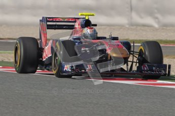 World © Octane Photographic 2010. © Octane Photographic 2011. Formula 1 testing Saturday 19th February 2011 Circuit de Catalunya. Toro Rosso STR6 - Jaime Alguersuari. Digital ref : 0025CB1D0734