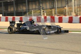 World © Octane Photographic 2010. © Octane Photographic 2011. Formula 1 testing Saturday 19th February 2011 Circuit de Catalunya. Williams FW33 - Rubens Barrichello. Digital ref : 0025CB5D0056