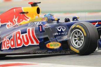 World © Octane Photographic 2011. Formula 1 testing Wednesday 9th March 2011 Circuit de Catalunya. Red Bull RB7 - Sebastian Vettel. Digital ref : 0020CB1D1608