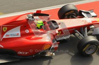 World © Octane Photographic 2011. Formula 1 testing Wednesday 9th March 2011 Circuit de Catalunya. Ferrari 150° Italia - Felipe Massa. Digital ref : 0020CB1D2677