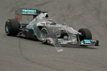 World © Octane Photographic 2011. Formula 1 testing Wednesday 9th March 2011 Circuit de Catalunya. Mercedes MGP W02 - Nico Rosberg. Digital ref : 0020LW7D8622