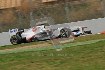 World © Octane Photographic 2011. Formula 1 testing Wednesday 9th March 2011 Circuit de Catalunya. Sauber C30 - Kamui Kobayashi. Digital ref : 0020LW7D9062