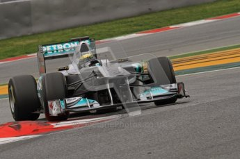 World © Octane Photographic 2011. Formula 1 testing Wednesday 9th March 2011 Circuit de Catalunya. Mercedes MGP W02 - Nico Rosberg. Digital ref : 0020LW7D9674