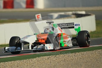 World © Octane Photographic 2011. Formula 1 testing Thursday 10th March 2011 Circuit de Catalunya. Force India VJM04 - Adrian Sutil. Digital ref : 0023cb1d2847
