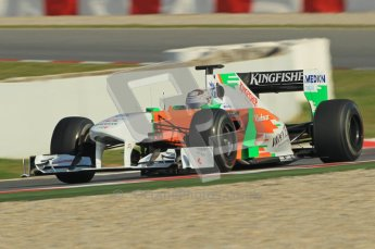World © Octane Photographic 2011. Formula 1 testing Thursday 10th March 2011 Circuit de Catalunya. Force India VJM04 - Adrian Sutil. Digital ref : 0023cb1d2872