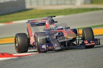 World © Octane Photographic 2011. Formula 1 testing Thursday 10th March 2011 Circuit de Catalunya. Toro Rosso STR6 - Jamie Alguersuari. Digital ref : 0023cb1d2932