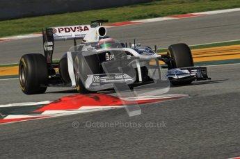 World © Octane Photographic 2011. Formula 1 testing Thursday 10th March 2011 Circuit de Catalunya. Williams FW33 - Rubens Barrichello. Digital ref : 0023LW7D1163