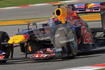 World © Octane Photographic 2011. Formula 1 testing Thursday 10th March 2011 Circuit de Catalunya. Red Bull RB7 - Mark Webber. Digital ref : 0023LW7D1296