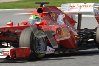 World © Octane Photographic 2011. Formula 1 testing Thursday 10th March 2011 Circuit de Catalunya. Ferrari 150° Italia - Felipe Massa. Digital ref : 0023LW7D1622