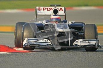 World © Octane Photographic 2011. Formula 1 testing Friday 11th March 2011 Circuit de Catalunya. Williams FW33 - Rubens Barrichello. Digital ref : 0022CB1D3336