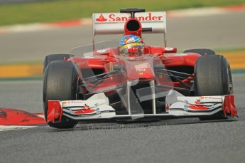 World © Octane Photographic 2011. Formula 1 testing Friday 11th March 2011 Circuit de Catalunya. Ferrari 150° Italia - Fernando Alonso. Digital ref : 0022CB1D3420