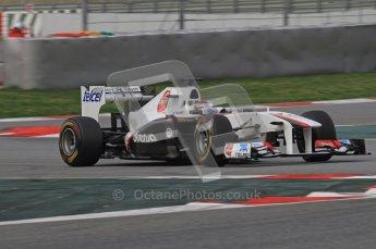 World © Octane Photographic 2011. Formula 1 testing Friday 11th March 2011 Circuit de Catalunya. Sauber C30 - Kamui Kobayashi. Digital ref : 0022LW7D2145
